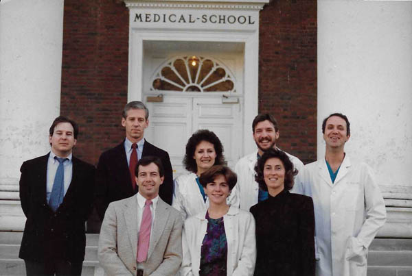 VCC_1990_Team Photo Outside VA Med school